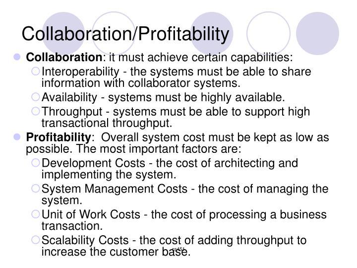 Collaboration/Profitability
