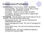collaboration profitability