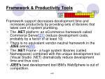 framework productivity tools