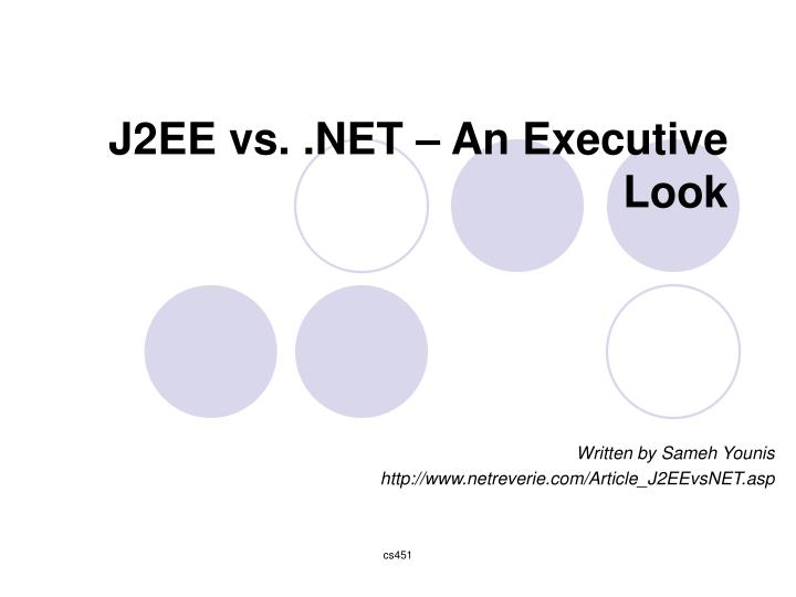 J2ee vs net an executive look