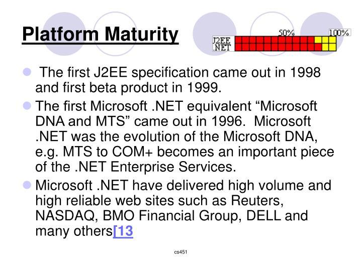 Platform Maturity