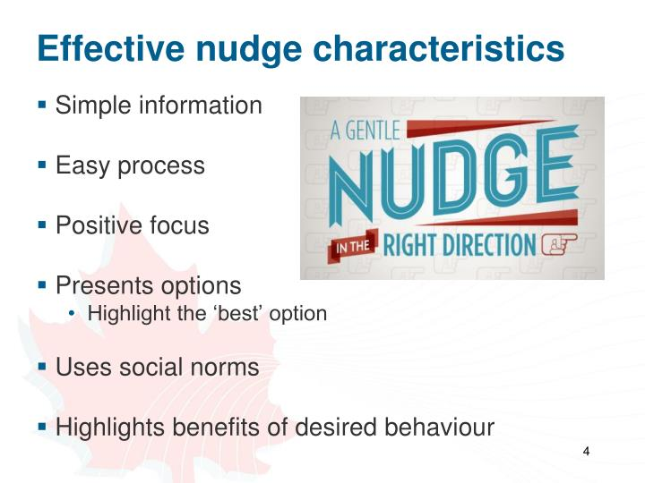 Effective nudge