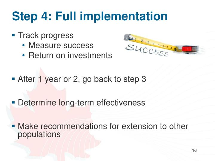 Step 4: Full implementation