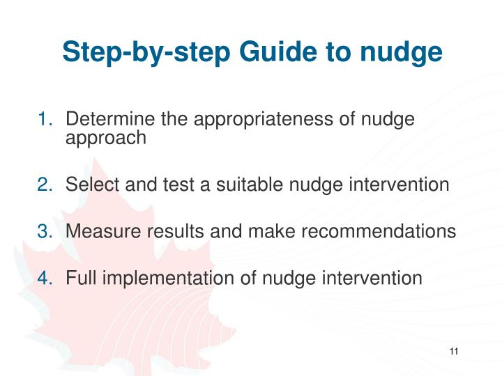 Step-by-step Guide to nudge