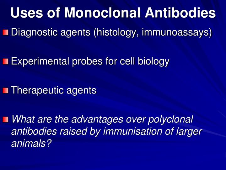 Uses of Monoclonal Antibodies