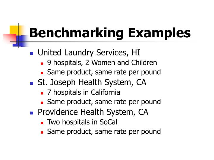 Benchmarking Examples