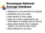 encompass national average database