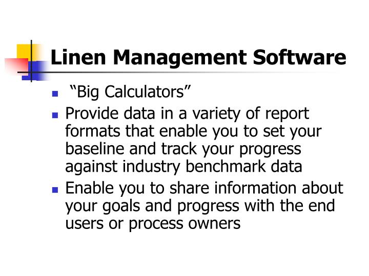 Linen Management Software