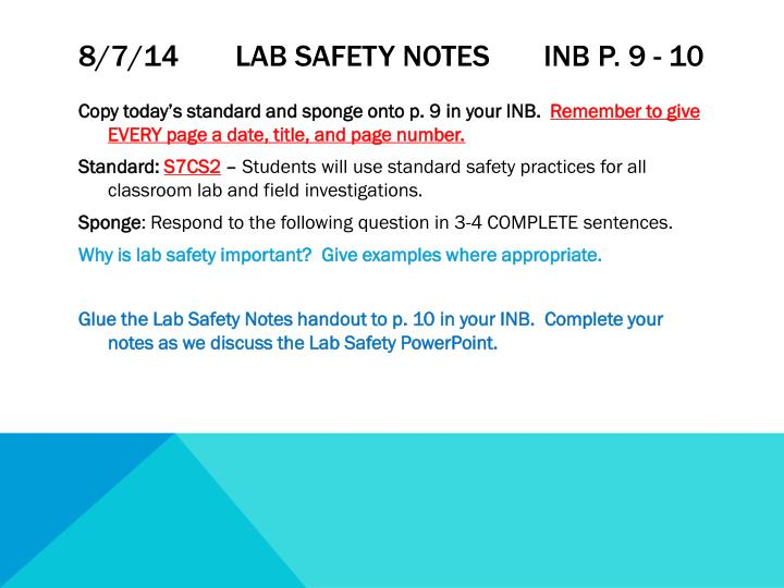 8 7 14 lab safety notes inb p 9 10
