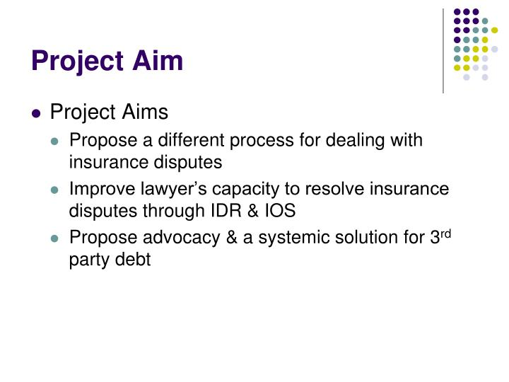 Project aim