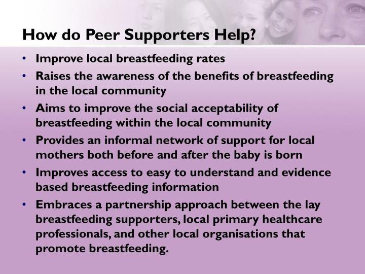 How do Peer Supporters Help?
