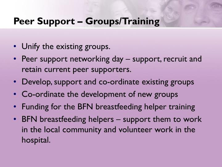 Peer Support – Groups/Training