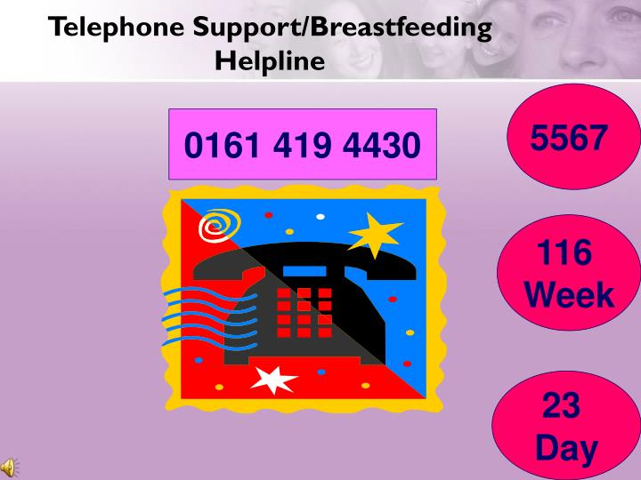 Telephone Support/Breastfeeding Helpline