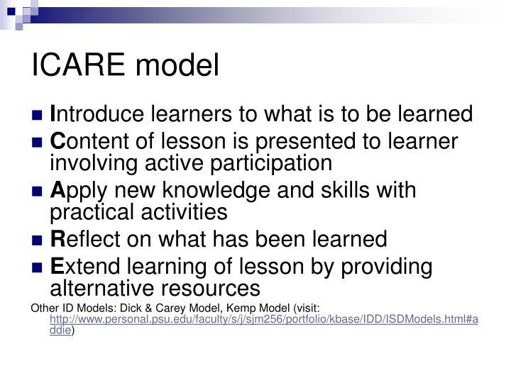 ICARE model