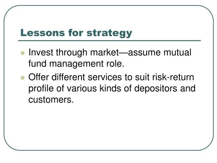 Lessons for strategy