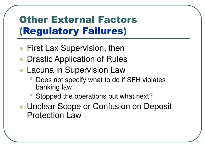 Other External Factors (