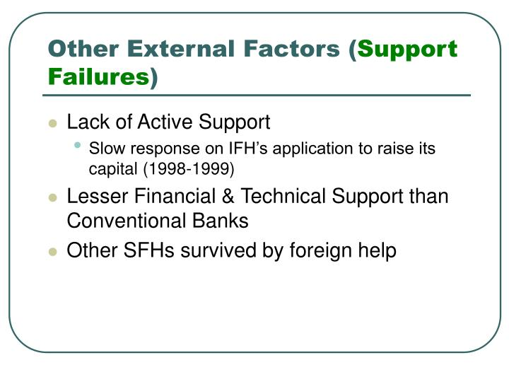Other External Factors (
