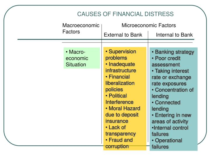 CAUSES OF FINANCIAL DISTRESS
