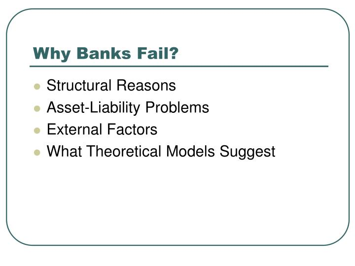 Why Banks Fail?