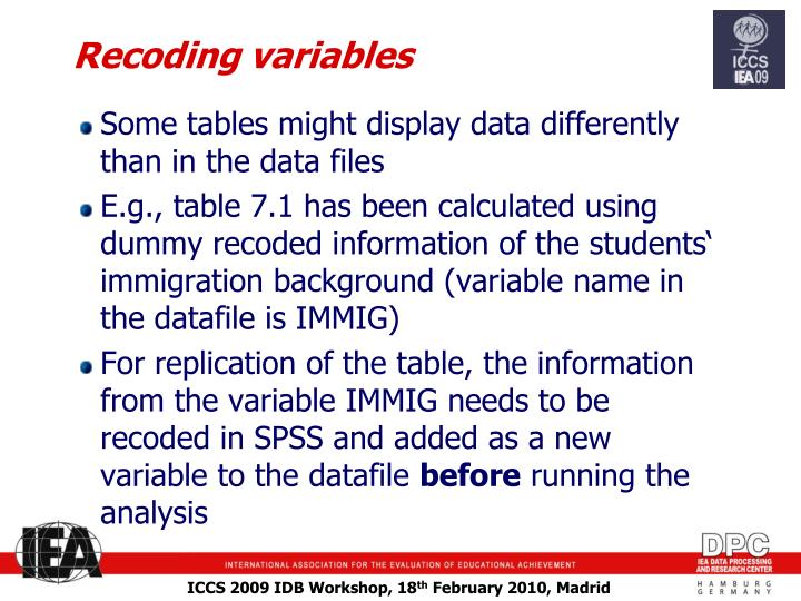 Recoding variables