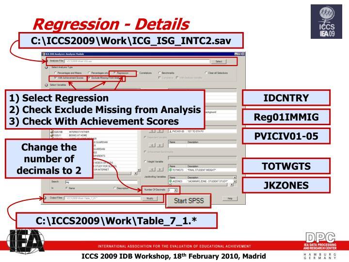 Regression - Details