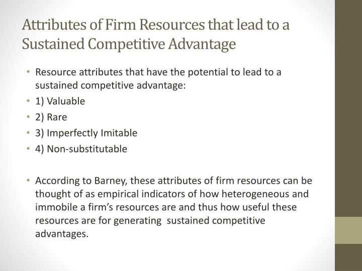 Firm resources