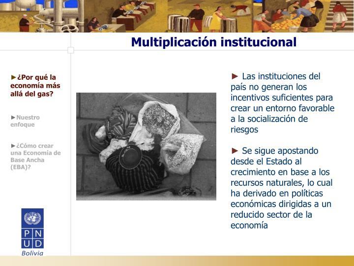 Multiplicación institucional