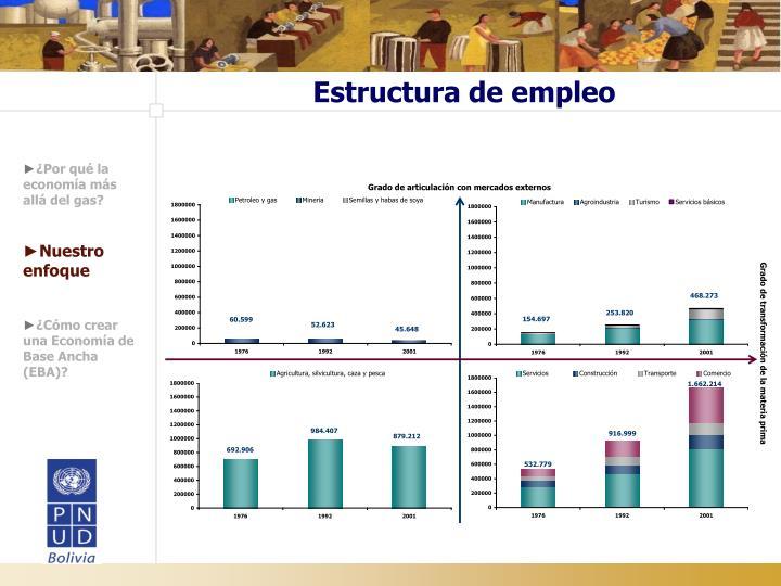 Estructura de empleo
