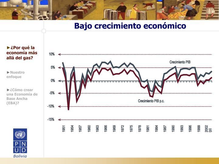Bajo crecimiento económico