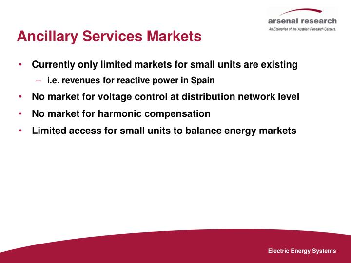 Ancillary Services Markets