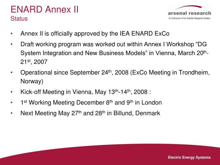 ENARD Annex II