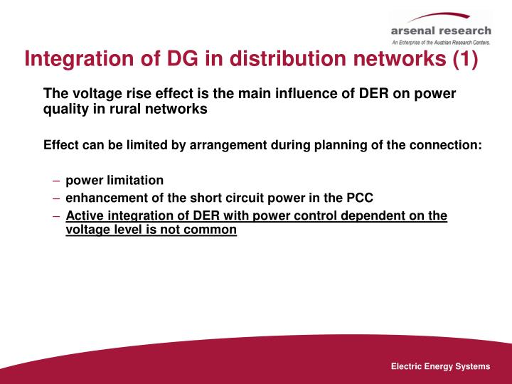 Integration of DG in distribution networks (1)
