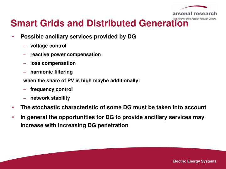 Smart Grids and Distributed Generation