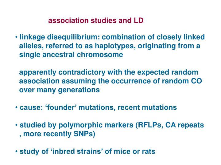 association studies and LD