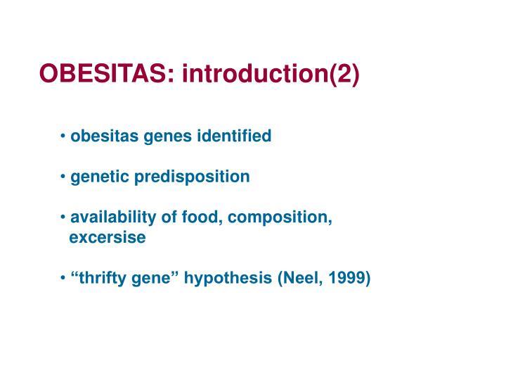 OBESITAS: introduction(2)