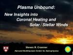 plasma unbound coronal heating and