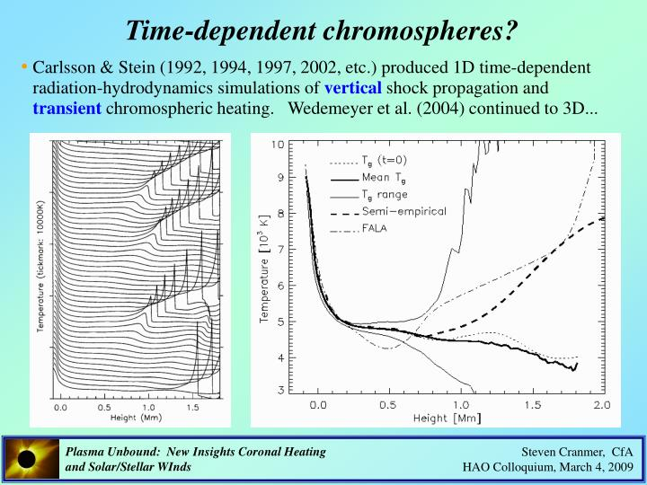 Time-dependent chromospheres?