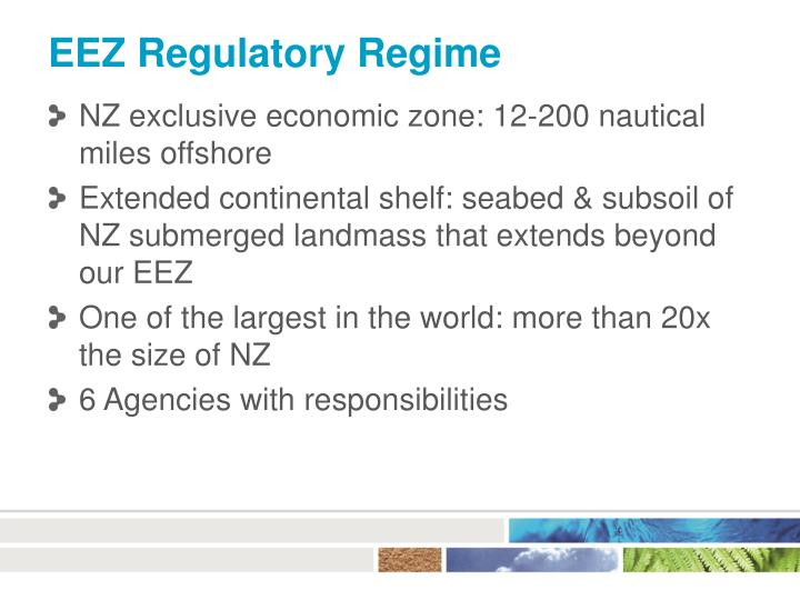 EEZ Regulatory Regime