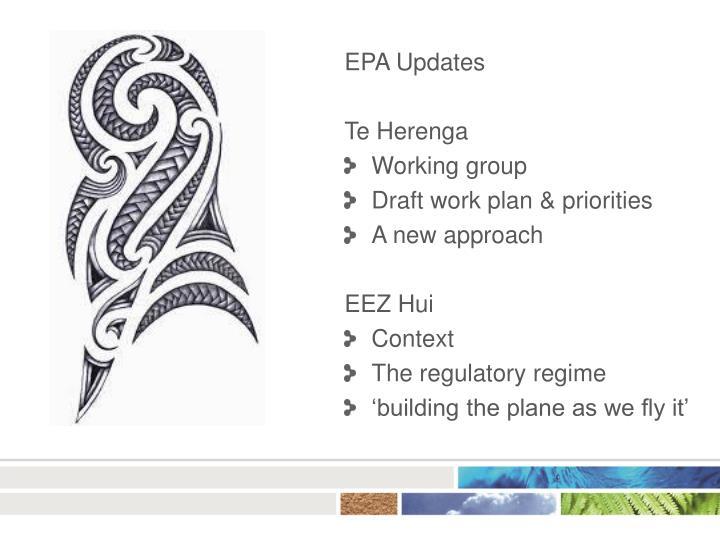 EPA Updates