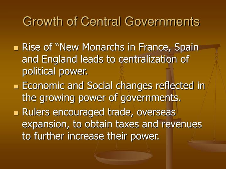 Growth of central governments