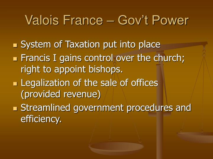 Valois France – Gov't Power