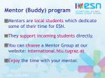 mentor buddy program