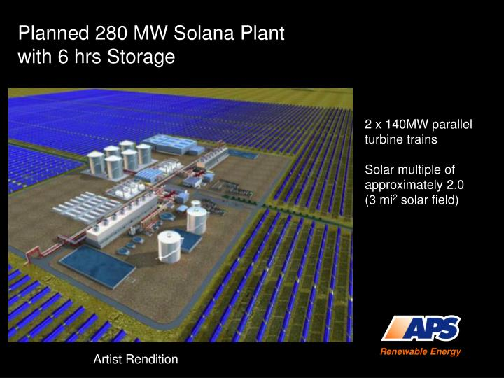 Planned 280 MW Solana Plant
