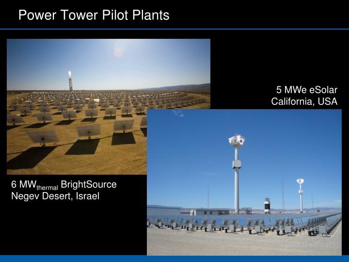 Power Tower Pilot Plants