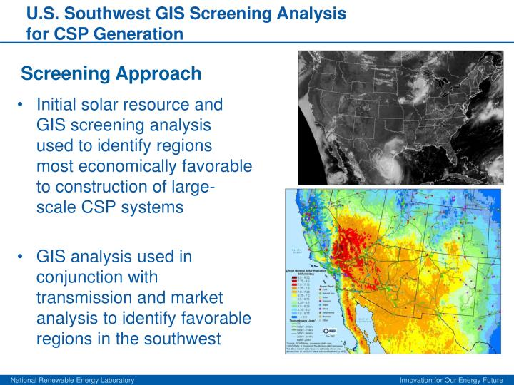 U.S. Southwest GIS Screening Analysis