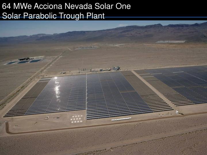 64 MWe Acciona Nevada Solar One