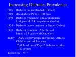 increasing diabetes prevalence