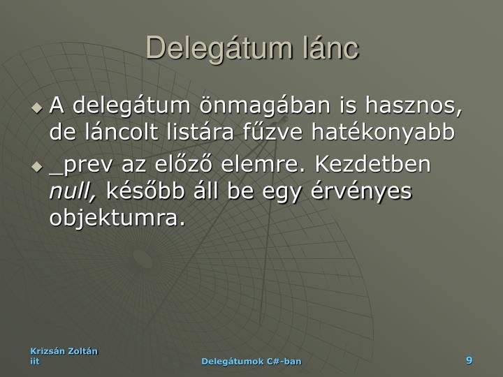 Delegátum lánc