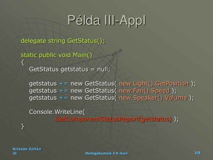 Példa III-AppI