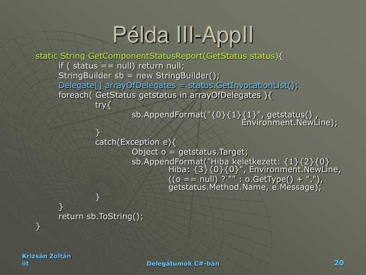 Példa III-AppII